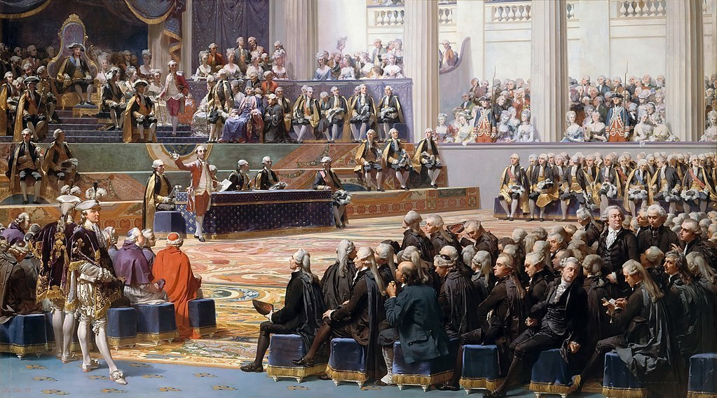 Painting by Auguste Couder showing the inauguration of the Estates-General in Versailles on 5 May 1789.