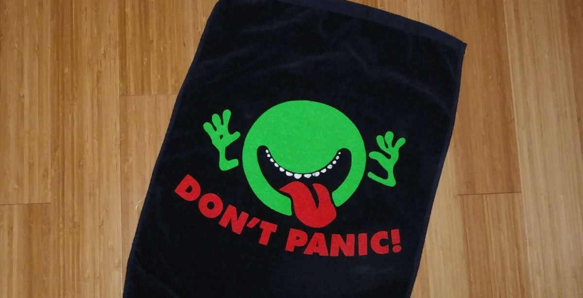 Don't Panic! Novelty Towel